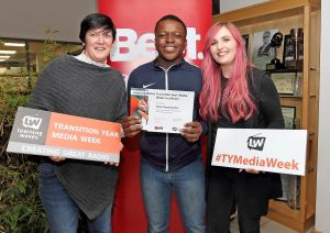 15 Transition Year students complete a brand-new TY Media Literacy Programme at Beat 102 103