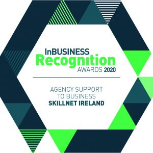 Skillnet Ireland named 'Best Agency Support to Business' at the InBusiness Recognition Awards 2020